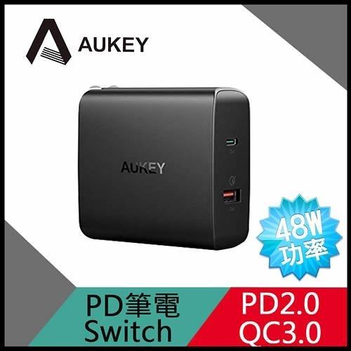 【AUKEY】PA-Y11 48W PD2.0+QC3.0 2孔快速充電器