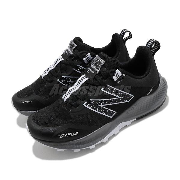 New Balance 慢跑鞋 Nitrel V4 寬楦頭 黑 灰 女鞋 越野跑鞋 全地形耐磨大底【ACS】 WTNTRLB4D