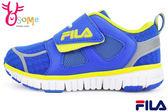 FILA運動鞋 男童鞋 反光系列 輕量 透氣 慢跑鞋M7678#藍◆OSOME奧森童鞋/小朋友