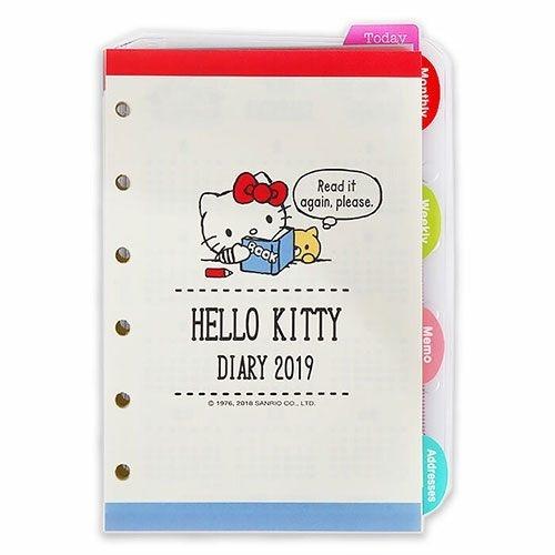 【震撼精品百貨】2019年曆~ Sanrio HELLO KITTY 2019活頁年曆手冊內頁#33423