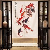 HONEY COMB 九魚招福棉麻門簾 風水簾GT-3867