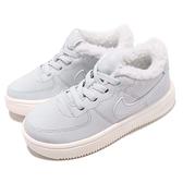Nike 休閒鞋 Force 1 18 SE TD 藍 白 Air Force 保暖毛料內裡 童鞋 小童鞋【ACS】 AR1134-001