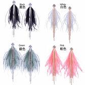 【RJNEWYORK】青鳥羽毛民族風格長型耳環 4色可選