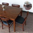 餐桌/餐椅/休閒椅/實木/ 胡桃實木餐桌椅組(1桌4椅) 【赫拉居家】
