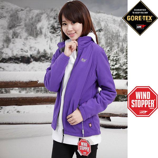 Gore-Tex 防風外套抓絨外套三層科技-WINDSTOPPER系列(女款10690 紫色)