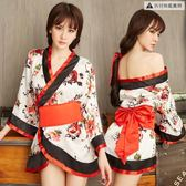 性感情趣內衣服日本緊身和服挑逗制服騷三點式血滴子【奈良優品】