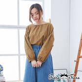 【Tiara Tiara】百貨同步ss  圓領素色繡花長袖上衣(綠/深灰/卡其)