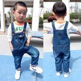 小男孩褲子1-8歲兒童牛仔背帶褲3春秋裝4女童5男童6夏季7純棉寶寶 奇思妙想屋