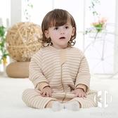 嬰兒睡袋兒童防踢被分腿春寶寶睡衣睡袋新生兒彩棉空氣棉防驚跳被隔臟【Kacey Devlin】