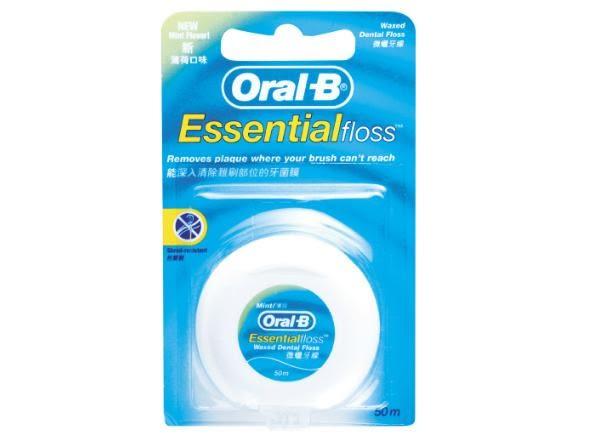 專品藥局 Oral B 歐樂B 牙線(薄荷微蠟) 50公尺【2003236】