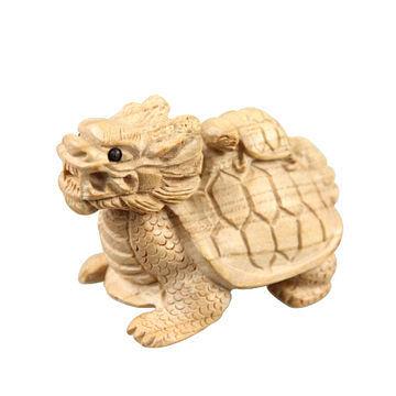風水桃木 龍龜母子龜 強效防小人 擺件家居飾品工藝品