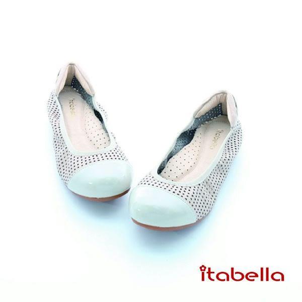 本週下殺★2016新品★itabella.舒適真牛皮洞洞包鞋(灰色)