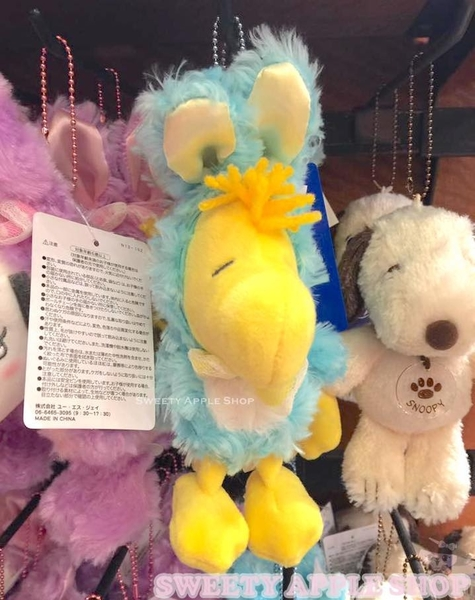 日本 大阪環球影城限定  糊塗踏客 兔子造型 鍊珠別針玩偶吊飾