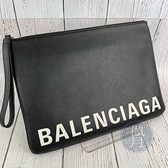 BRAND楓月 BALENCIAGA 巴黎世家 594350 LOGO手拿包 腋下包 皮質 荔枝紋 iPad保護套 萬用
