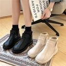 平跟雪地靴女2021冬季新款韓版套腳學生保暖面包鞋防滑棉鞋森女靴 滿天星