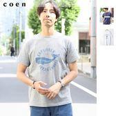 男短T恤 海洋風印花 現貨 免運費 日本品牌【coen】