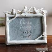 5寸6寸7寸8寸三只鳥樹脂相框創意照片框小鳥擺臺彩繪家居飾品 韓語空間