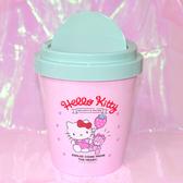 Hello Kitty 旋轉蓋 垃圾桶 日本正版品