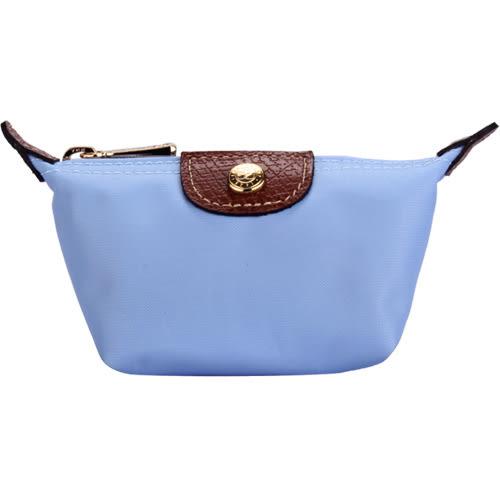LONGCHAMP 經典尼龍水餃零錢包(淡藍色)480137-A30