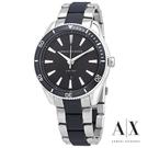 ARMANI 黑白簡約精品紳士錶 AX1834