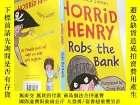 二手書博民逛書店horrid罕見henry robs the bank 可怕的亨 利搶 劫 銀行..,Y200392