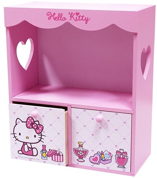 【震撼精品百貨】Hello Kitty_凱蒂貓~HELLO KITTY花邊收納櫃*52569