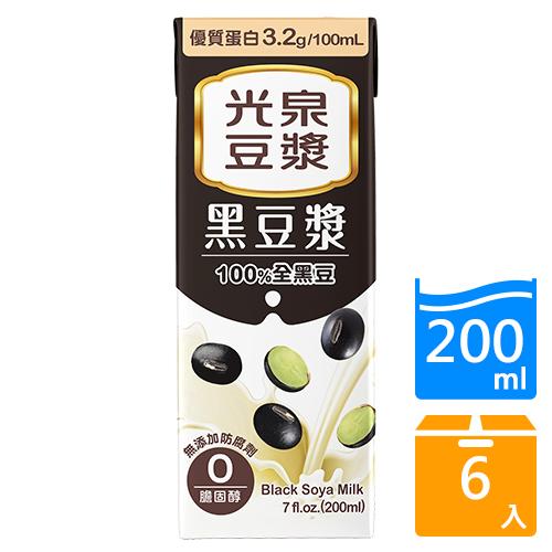 光泉黑豆漿200ML x6入【愛買】