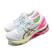 Asics 慢跑鞋 Gel-Kayano 27 Lite-Show 白 粉紅 女鞋 輕量透氣 運動鞋 【ACS】 1012A761100