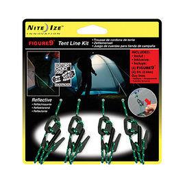 美國 NITEIZE FIGURE 9 帳篷繫繩勾組 (4入含2.43M繩) 黑 F9T40301