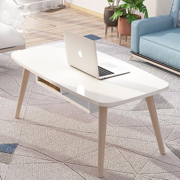 茶幾桌 ins風實木簡約北歐茶幾 小戶型矮桌子 創意咖啡桌 易裝客廳現代邊茶幾桌
