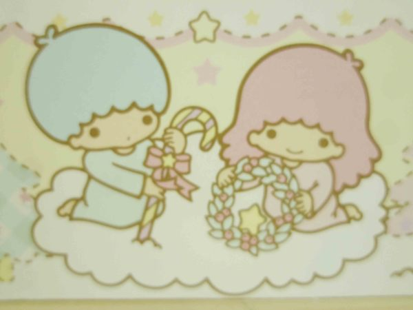 【震撼精品百貨】Little Twin Stars KiKi&LaLa 雙子星小天使~卡片便條-雪