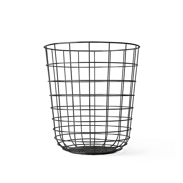 丹麥 Menu Wire Bin 金屬織網 雜誌桶 / 收納桶(黑色漆面)
