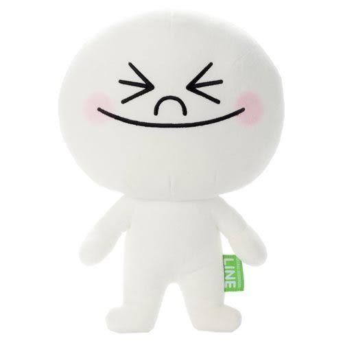 LINE絨毛娃娃 - 饅頭人笑臉 (M size)_ TA29692