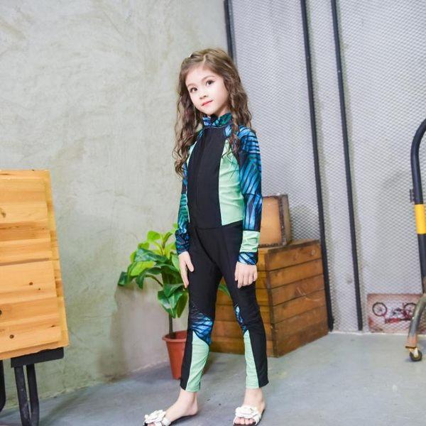 水母衣兒童連體泳衣潛水服男童女童長袖水母衣潛水衣浮潛服聖誕狂歡好康八折