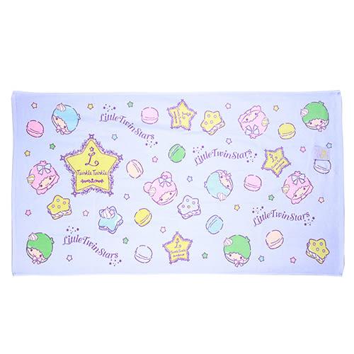《Sanrio》雙星仙子滿版圖案純棉大浴巾(粉彩馬卡龍)★funbox生活用品★_RD00544