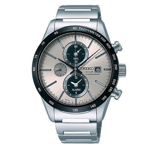 SEIKO SPIRIT 時尚休閒風格太陽能計時腕錶/銀灰面/41mm/V172-0AP0S(SBPY117G)