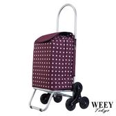 WEEY 台灣製造 輕量折疊三輪購物車 菜籃車可拆輪設計(紅點)29-025D1