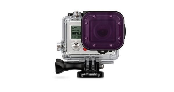 晶豪泰 分期0利率 GOPRO Purple Filter 紫色濾镜 (60米潛水盒適用) 公司貨 濾鏡 防刮