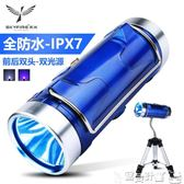 釣魚燈 天火強光釣魚燈夜釣燈超亮藍光1000w可充電氙氣燈高防水支架夜光 寶貝計畫