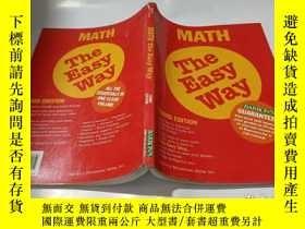 二手書博民逛書店math罕見the easy wayY9212