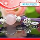 銀鏡DIY S925純銀材料配件/6mm亮面簍空8瓣小雛菊造型花蓋/珠托T~手作串珠/水晶提昇質感-特價
