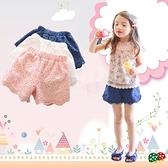2021新款女童短褲外穿韓版勾花時尚復古熱褲純色百搭夏季兒童褲子 幸福第一站