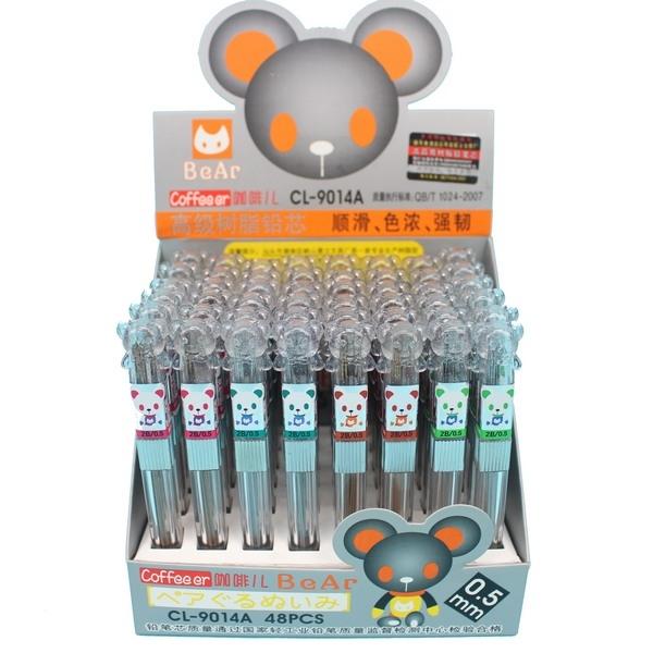 小熊頭鉛筆芯 CL-9014A 咖啡兒 2B鉛筆芯 0.5mm/一小筒入(定10) 透明桿-萬
