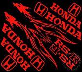 個性摩托車貼花踏板摩托車反光貼紙整車套貼火焰龍本田套貼割字【韓衣舍】