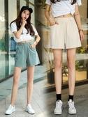 棉麻短褲 2020新款棉麻短褲女夏季薄款褲子寬鬆韓版高腰大碼闊腿休閒五分褲
