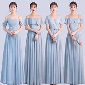洋裝 新品 雪紡 伴娘禮服 簡約大方姐妹裙拉鍊款婚禮表演約會學生