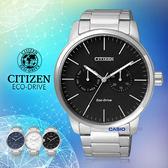 CITIZEN 星辰 手錶專賣店 CITIZEN AO9040-52E 男錶 不鏽鋼錶帶 黑 光動能 日期星期顯示 防水