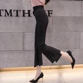 修身顯瘦小腳不規則 韓版彈力時尚九分微喇叭褲女ZL-2F-C01-C朵維思
