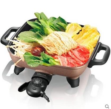 【220V電壓】DHG-C1128 電火鍋韓式多功能電熱鍋電炒家用不粘鍋