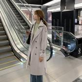 洋氣風衣外套女復古雙排扣長袖百搭寬松氣質長款外套DB603A依佳衣